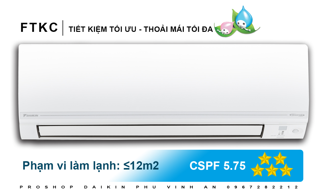 Điều Hòa Daikin Inverter FTKC25UAVMV - 1HP
