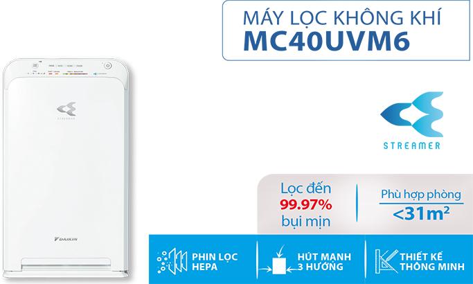 MÁY LỌC KHÔNG KHÍ MC40UVM6